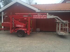 Uthyrning av skylift TH135 i Hudiksvall