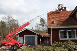 Uthyrning av skylift TH160 i Hudiksvall